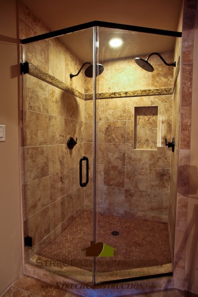 Shower in a New Home Build in Heights Houston Tx.