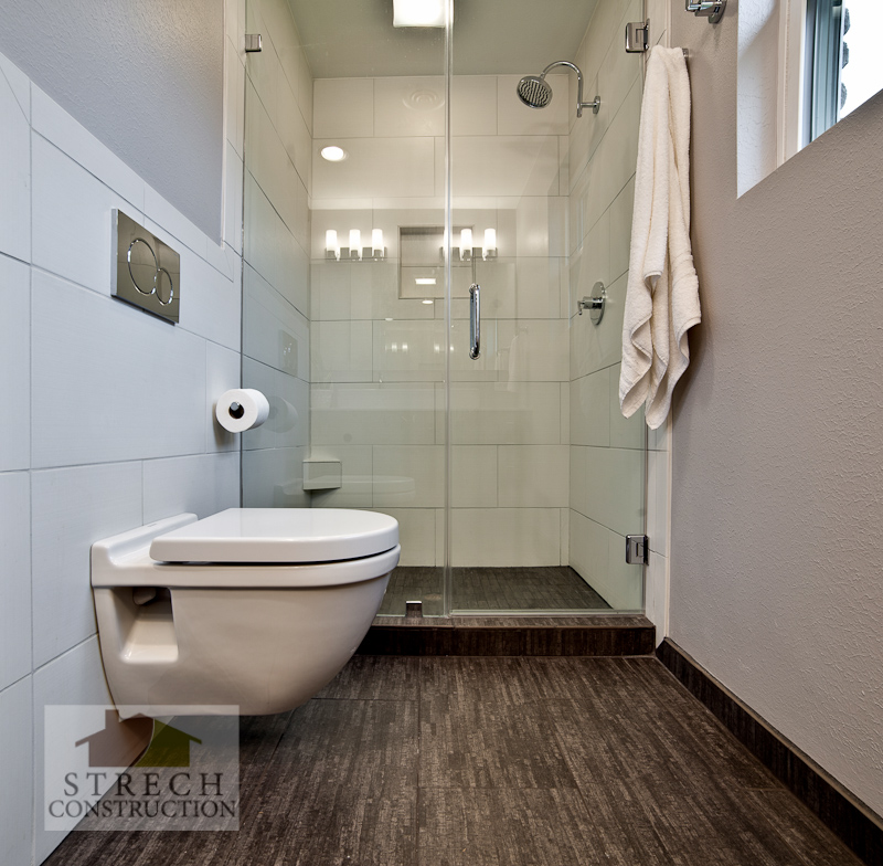 Bathroom Remodel Modern Strech Construction